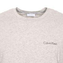 358a4d6eadb Calvin Klein - Pyjama court Short Set en coton stretch   tee-shirt col rond  ...