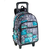 Longboard - Sac à dos à roulettes Sun 2 compartiments gris et turquoise