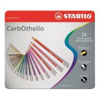 Stabilo - Boîte métal de 24 Crayons de couleur CarbOthello