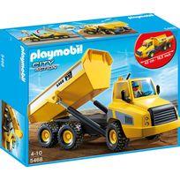 PLAYMOBIL - Grand camion à benne basculante - 5468