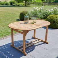 Grande table bois ovale - catalogue 2019 - [RueDuCommerce - Carrefour]