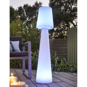 new garden lampadaire ext rieur led multicolore sans fil en poly thyl ne lola 110cm blanc. Black Bedroom Furniture Sets. Home Design Ideas