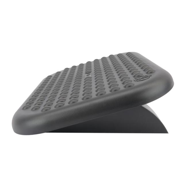 PrimeMatik Repose-Pieds avec Plateau r/églable en Plastique Noir 448 x 335 mm Gomme