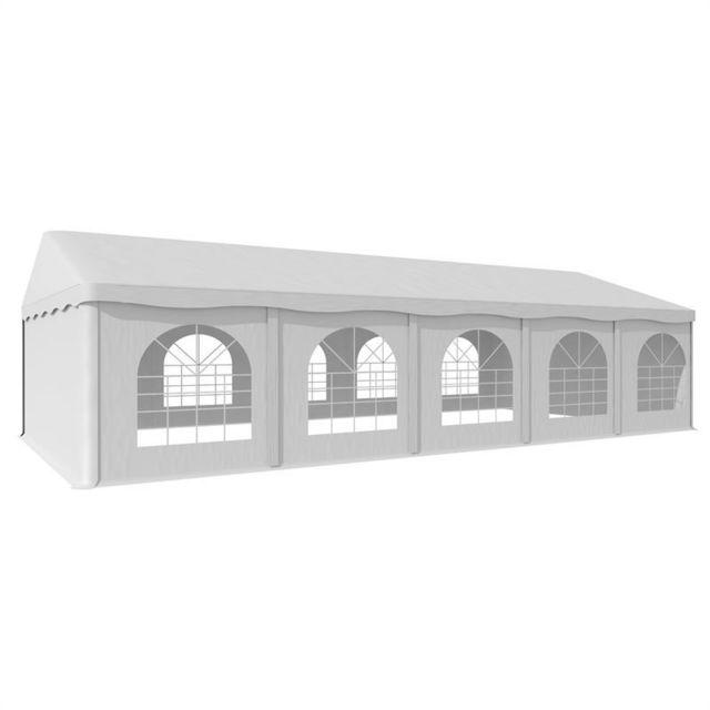 BLUMFELDT Sommerfest 5x10m 500 g/m² Chapiteau tente PVC étanche galvanisé