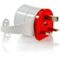 Watt&CO - Adaptateur Fr vers Uk rouge