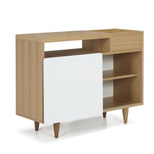 alin a nyla petit buffet placage ch ne finition laqu blanc pas cher achat vente buffets. Black Bedroom Furniture Sets. Home Design Ideas