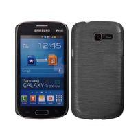 Kabiloo - Coque ultra fine effet métallisé pour Samsung Galaxy Trend Lite S7390 coloris noir