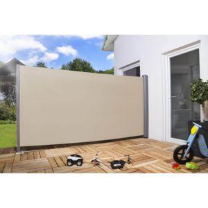 empasa brise vue r tractable pro alu tissu beige l300 x h180 cm pas cher achat vente. Black Bedroom Furniture Sets. Home Design Ideas