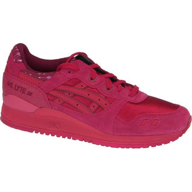 basket asics gel lyte 3 hl6a2-9090 rouge