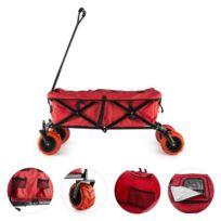 Red Devil Chariot à main pliable 68 kg poches latérales - rouge