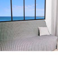 Cti - Jeté de canapé ou de lit Gris 170 x 250 cm