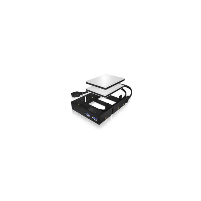 ICY BOX - Façade 3,5'' 2 ports USB 3.0 et 2x HDD/SSD 2,5