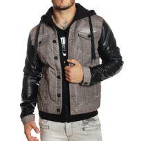Cipobaxx - Cipo and Baxx - Veste en jeans doublée manches cuir