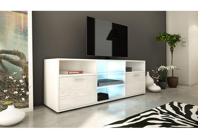House And Garden Meuble Tv Haut Lumineux A Led 150 Cm