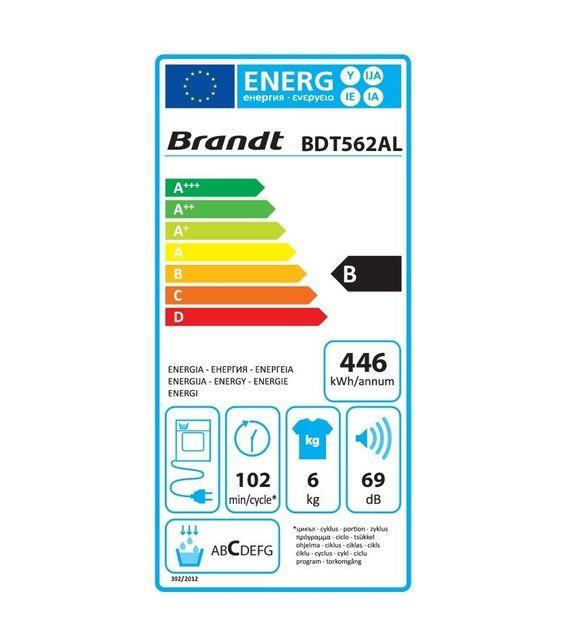 Brandt Sèche-linge à condensation BDT562AL