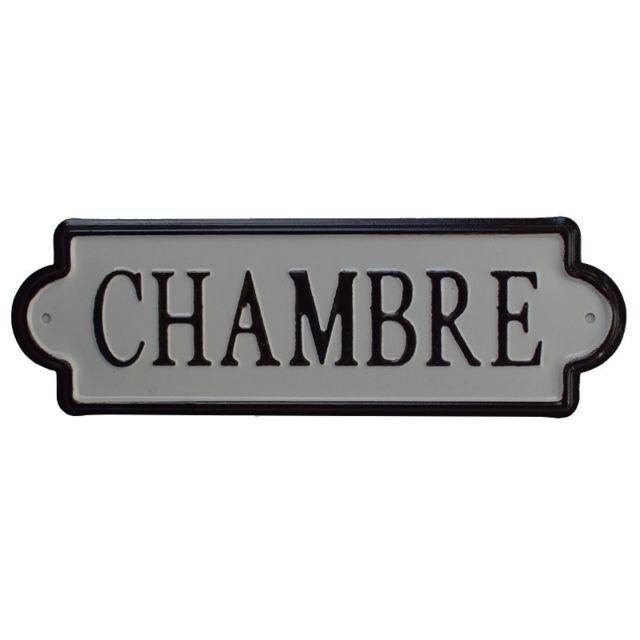 Chemin De Campagne Grande Plaque de Porte Chambre Fer Métal 25,50x8 cm