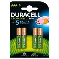 Duracell - Blister 4 accus rechargeables Stay Charged Aaa - Lr03