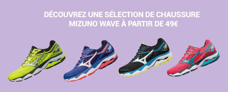course a pieds Mizuno wave