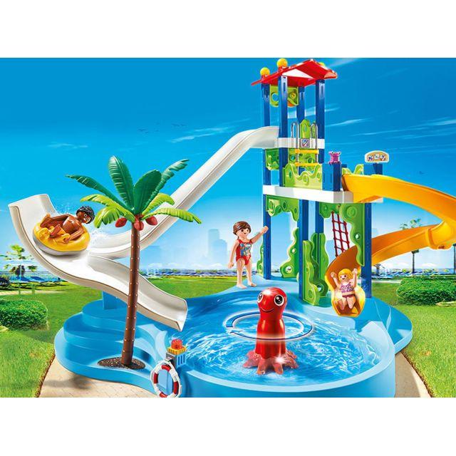 PLAYMOBIL - Parc aquatique avec toboggans géants - 6669