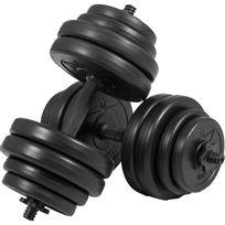 Gorilla Sports - Gyronetics E-series barres courtes 30 kg paire de 2 x 15kg, Gn001