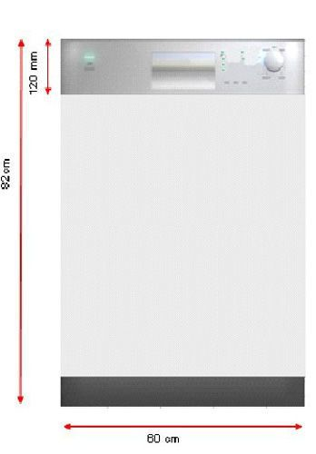 Sogelux Lave-vaisselle semi-integrable Slvi842X bandeau inox