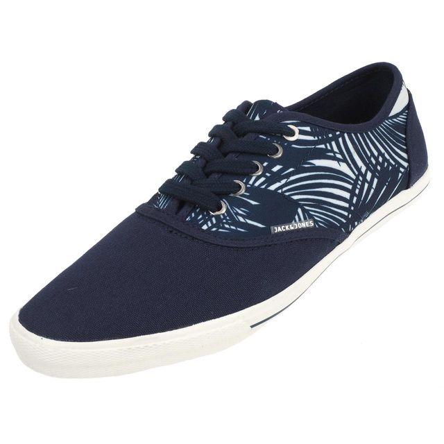 Jack JONES - Chaussures basses toile Jack and jones Spider navy blazer  canvas Bleu 20262 1b78024ceeca