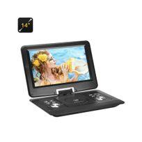 Auto-hightech - Lecteur dvd portable 14 pouces écran rotatif 270 Anti-choc