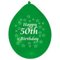 ToyCentre - Amscan 22,8 Cm-happy Birthday 50TH De 10 Ballons En Latex