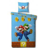 Super Mario - Bros - Parure de Lit Enfant - Housse de Couette