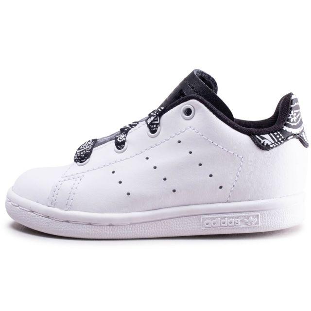 énorme réduction f8ead 44a06 Adidas - Stan Smith Bandana Noir Et Blanc Bébé - pas cher ...