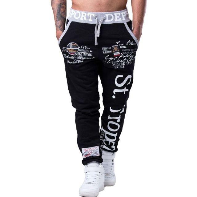71d42b697fd Jogging homme fashion Jogging 548 noir St Tropez - pas cher Achat   Vente  Pantalon homme - RueDuCommerce