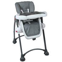 TEX BABY - Chaise haute bébé pliable avec tablette ajustable