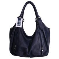 Oh My Bag - Sac à Main Cuir femme - Modèle St trop' bleu foncé