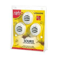 Retro - lot de 3 répulsifs ultrasons souris insectes rampants 135m2 - rus2