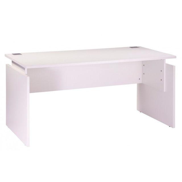 simmob bureau 160 x 80 cm blanc r glable en hauteur ineo 80cm x 160cm x pas cher. Black Bedroom Furniture Sets. Home Design Ideas