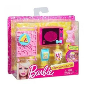 barbie mattel set micro ondes et accessoires cuisine maison - Cuisine Barbie