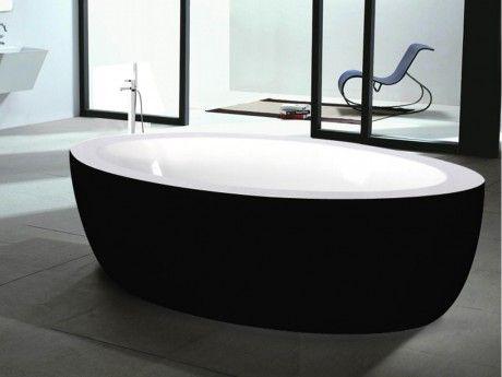 Shower Design Baignoire Ilot Marmara 206l 185 91 58cm Noir