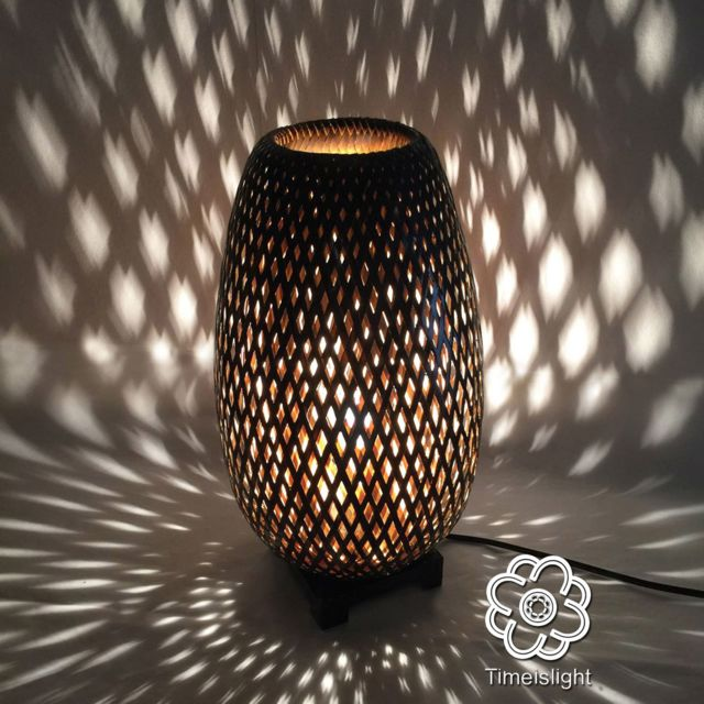 Light Lampe Cm Is Tressé Bambou Ø Time En Variateur 22 Noiramp; X UzVqMpSG
