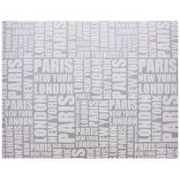 Promobo - Rouleau Papier Cadeau Emballage New York Tag City Argenté 200cm