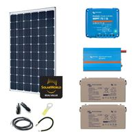Myshop-solaire - Kit solaire 300w autonome + convertisseur 230v/375va