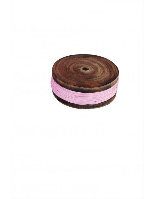 Decoshop Bobine en bois et tissu rose
