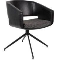 Inside 75 - Zuiver Chaise Beau revêtement polyuréthane façon cuir noir