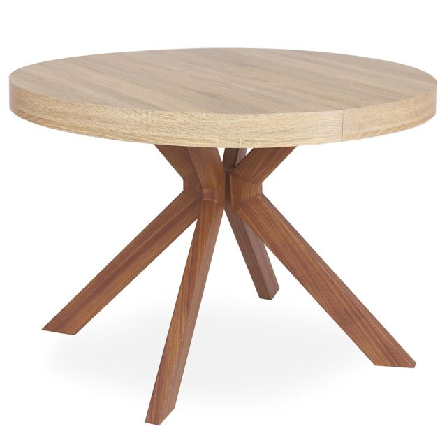 Table Ronde Extensible Pas Cher.Table Ronde Extensible Myriade Sonoma