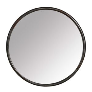 pomax miroir rond mural en fer noir boudoir petit 0cm x 0cm pas cher achat vente miroirs. Black Bedroom Furniture Sets. Home Design Ideas