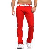 Rerock - Pantalon chino coloré Chino Rr54 rouge