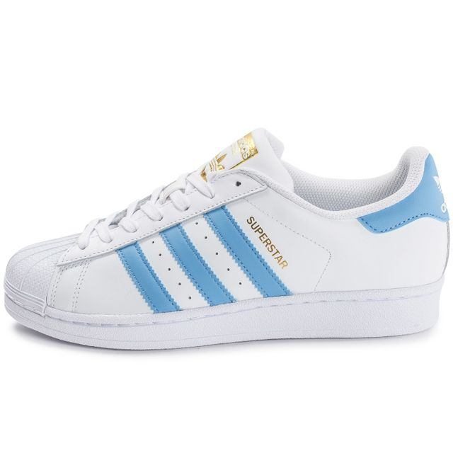 Adidas originals - Superstar Blanc Et Bleu