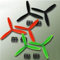 Gemfan - Hélice tripale fibre CCW Anti-Horaire, 6x4 Bullnose Orange 2 pcs