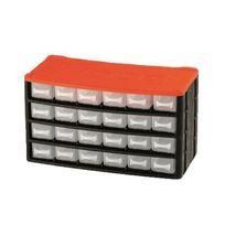 Tood - Casier de rangement 24 tiroirs 33x16x18 cm