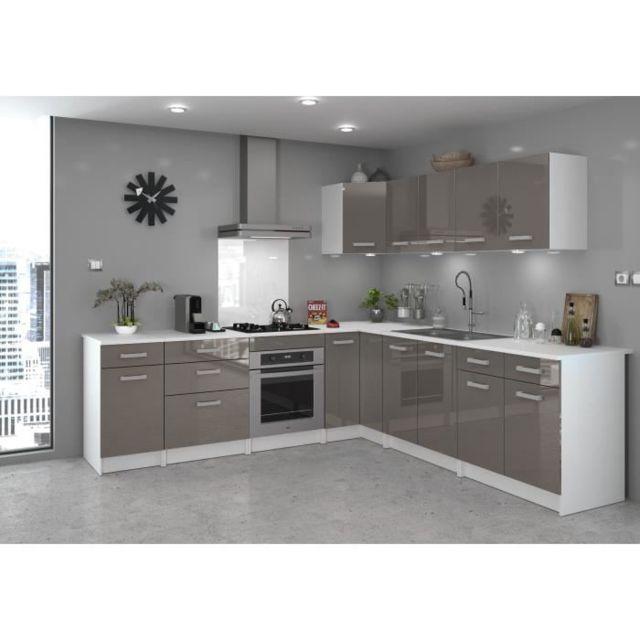 G n rique elements separes bas start meuble bas de cuisine avec plan de travail l 80 cm - Element de cuisine taupe ...
