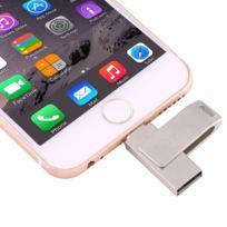 Wewoo - Clé Usb pour iPhone & iPad & iPod 16 Go Lightning vers Usb 2.0 2 in1 Mini 2 Rotation Disque Flash en métal
